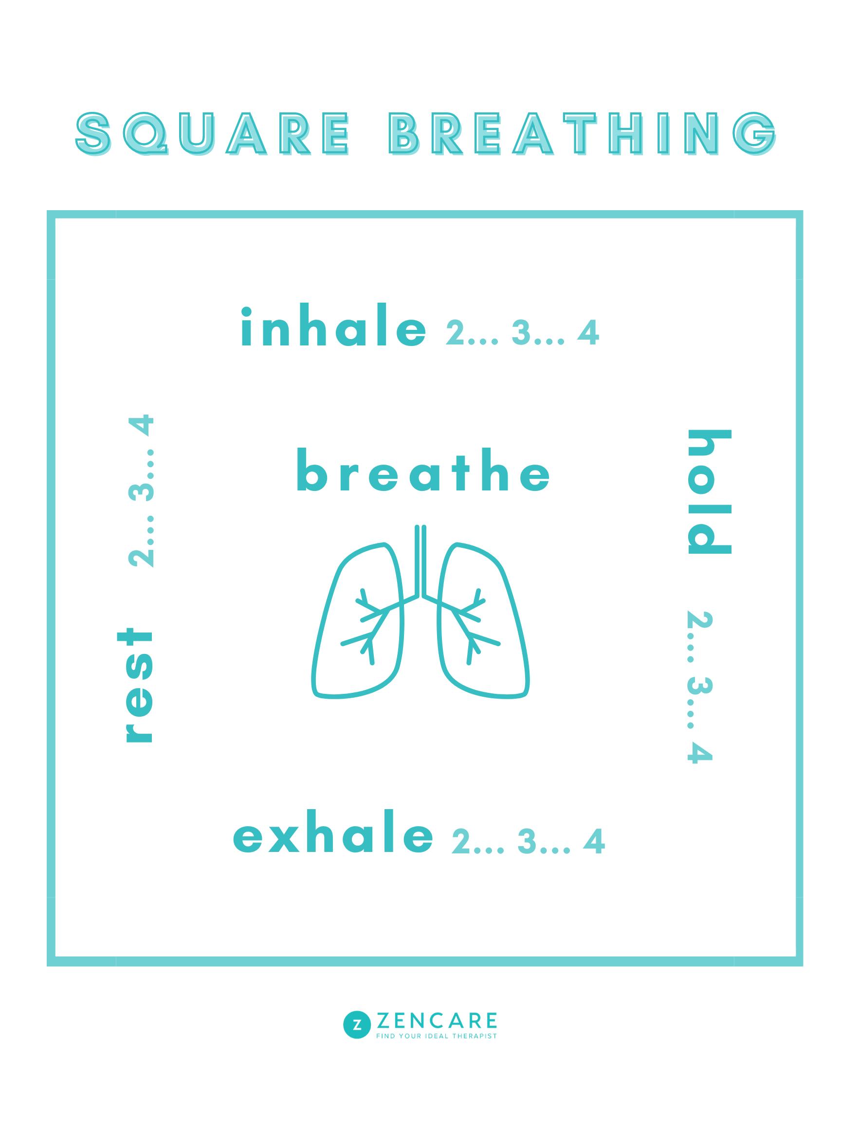 Square Breathing How to Reduce Stress through Breathwork   Zencare